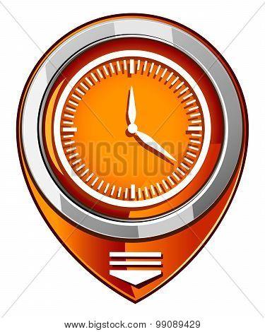 Clock - Orange Pointer