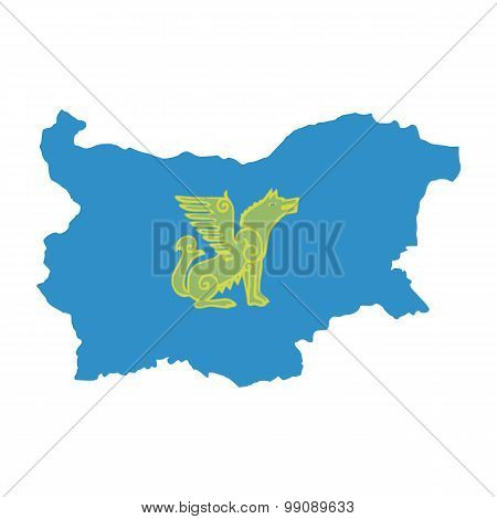 Map flag of Bulgaria - Nogai. Nogai in Bulgaria