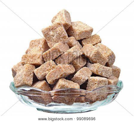 Cane Sugar In A Glass Plate