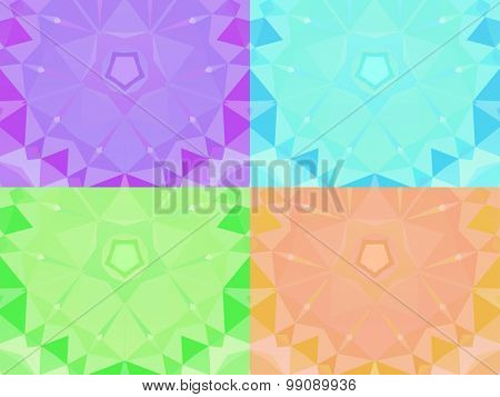 Abstract colorful vector background set