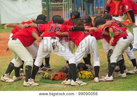 Zhongshan Panda Cup, Zhongshan, Guangdong - August 4:players Of Team Taiwan Zhanghua Dongshan Primar