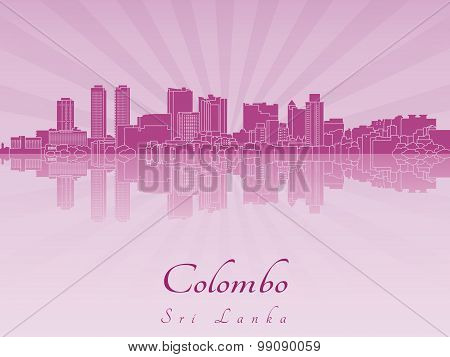 Colombo Skyline In Purple Radiant Orchid