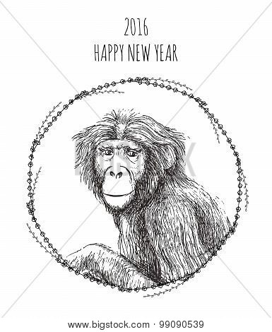 Chinese New Year Of The Monkey 2016.