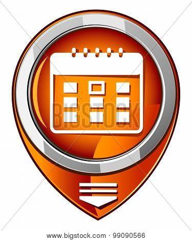 Calendar Organizer -  Orange Pointer