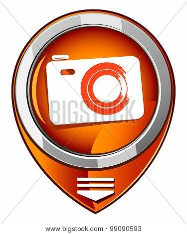Photo Camera - Vector Orange Pointer