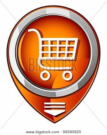 Shopping Trolley - Orange Pointer