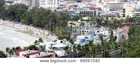 Panoramic view of the town of Patong and beach, Phuket