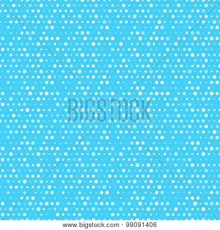 Cute blue and white dotted vector seamless pattern.