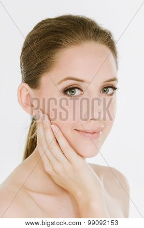 Young woman with beautiful makeup