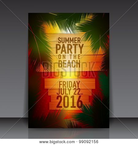 Summer Beach Party Flyer | Vector Design