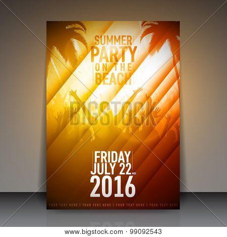 Summer Beach Party Flyer | Vector Design