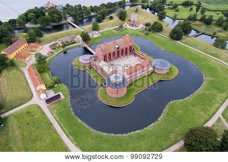 Aerial View Of Landskrona Citadel, Sweden