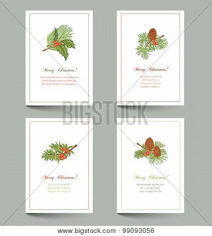 Christmas Branches Cards