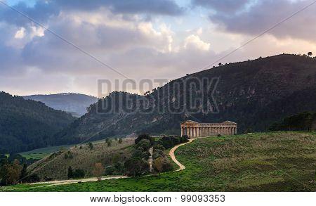 Doric Temple In Segesta, Sicily