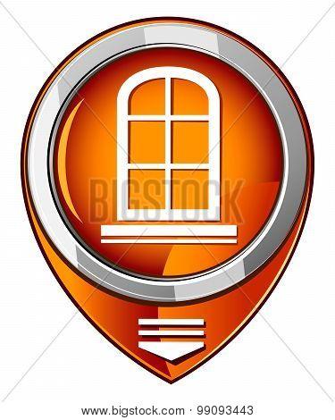 Window Frame - Orange Pointer