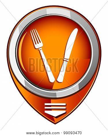 Fork And Knife - Orange Pointer