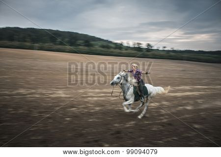 Freedom, galloping horse