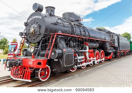 Old Steam Locomotive.