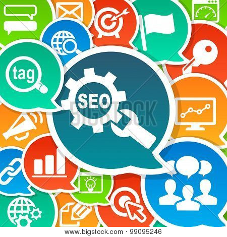 SEO Search Engine Optimization Marketing Background