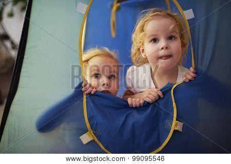 two cute twin girls