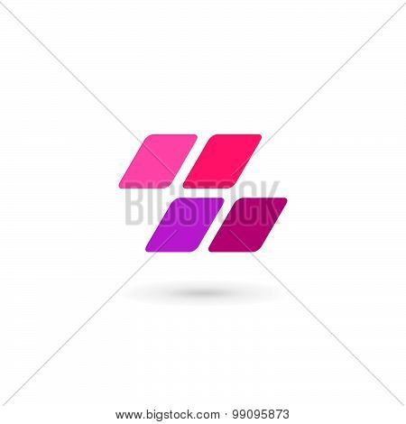 Letter Z Number 2 Mosaic Logo Icon Design Template Elements