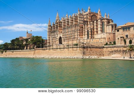 Gothic Roman Catholic Cathedral in Majorca, Spain