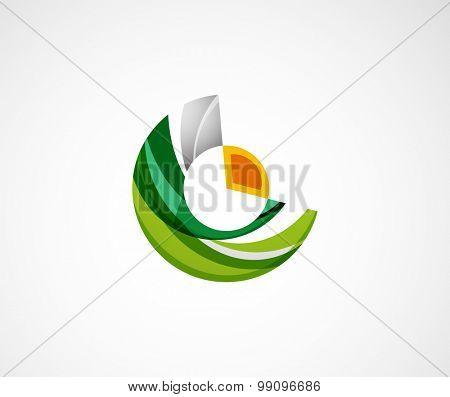 Statistics company logo design.  illustration. Economy business icon