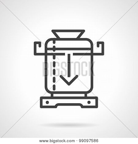 Coffee mill line vector icon