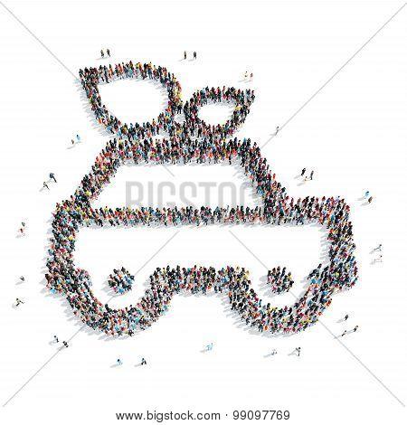 group people  shape  car ecology