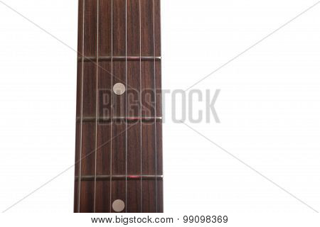 Guitar Fretboard On A White Background