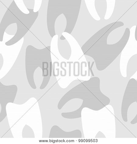 Army Pattern Of Teeth. Military Vector Texture Winter Camouflage.