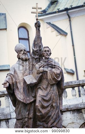 Monument of Saints Cyril and Methodius. Slovak republic