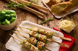 pic of souvlaki  - Concept of barbecue picnic food - JPG