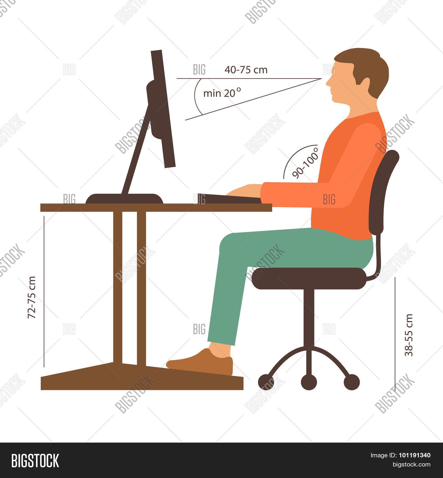 Correct Posture Stock Vector Amp Stock Photos Bigstock