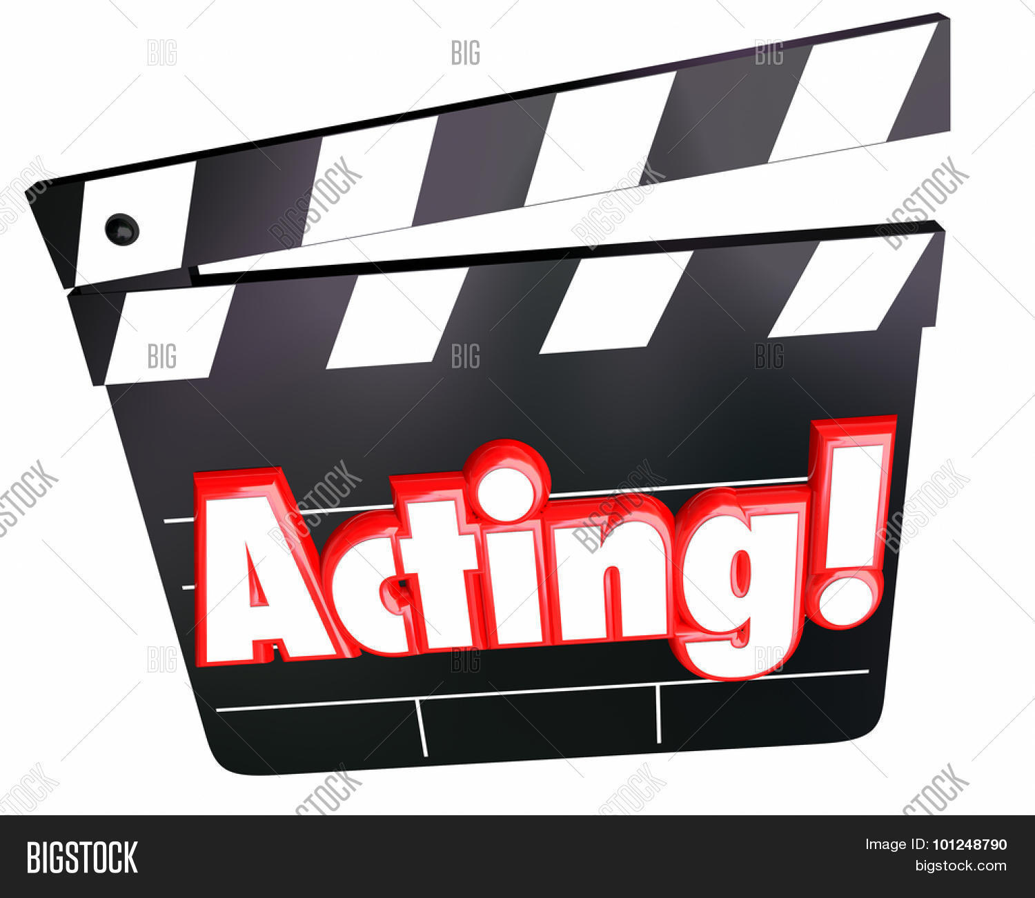 acting word red 3d letters on movie image   photo bigstock movie film clip art border movie film clipart