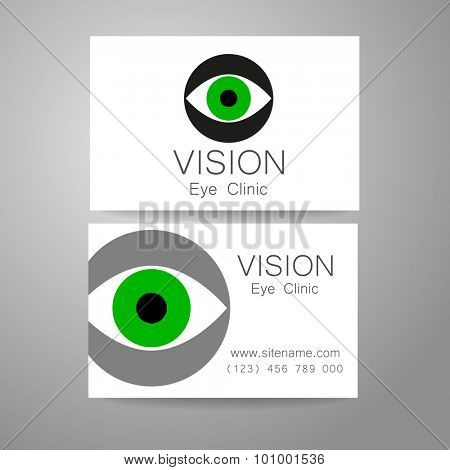 Vision - eye clinic logo. Design corporate identity for the the optics, medical center, shops glasses and lenses etc.