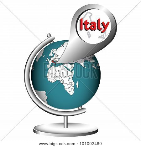 Illustration Vector Graphic Globe Italy