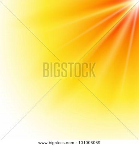 Sun-explosion-bright-light-yellow-background