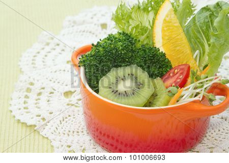 Fusion Food, Fruit And Vegetable Salad