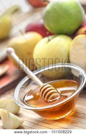 Sweet honey and apples