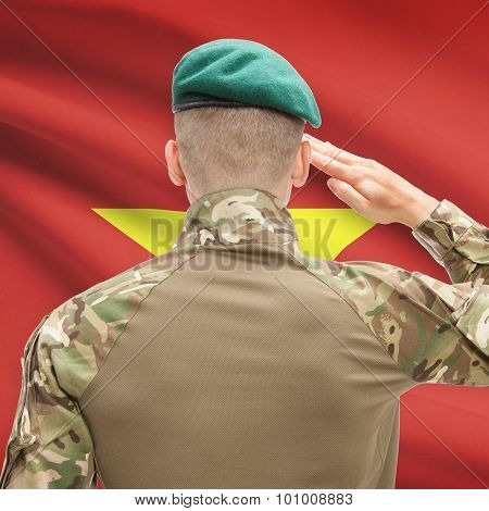 National Military Forces With Flag On Background Conceptual Series - Vietnam