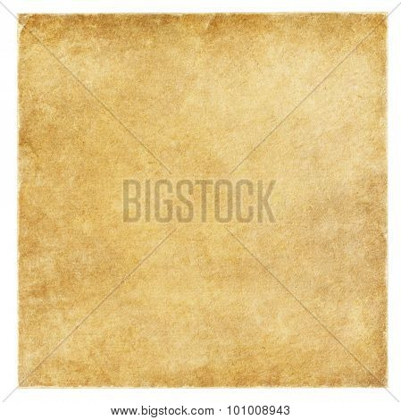 old paper with frayed edges isolated on the white.