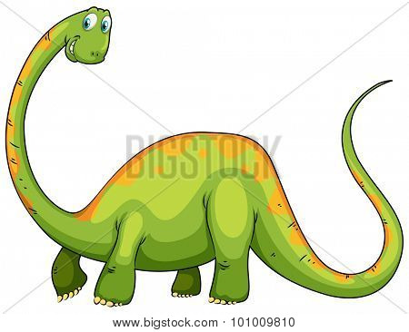 Dinosaur with long neck and tail illustration