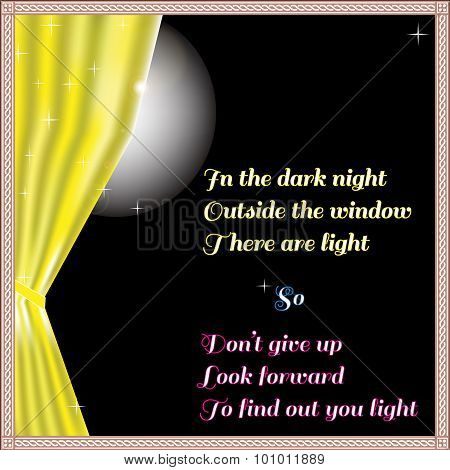 Light Of Hope In The Dark Night Outside The Window