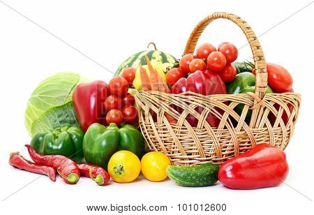 Vegetables In Basket.