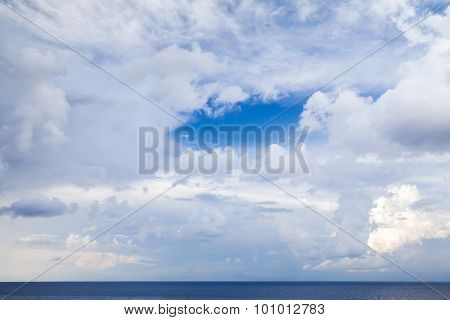 Sea Landscape With Dramatic Cloudy Sky