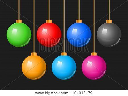 Colorful Christmas Balls Bauble Set