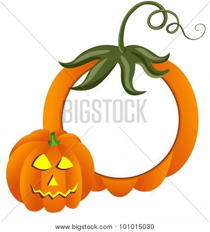Halooween Pumpkin Photo Frame