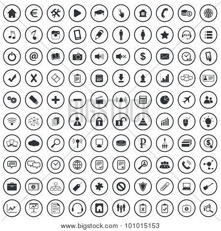 Webdesign sign icons set