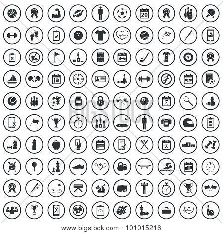 Sport sign icons set